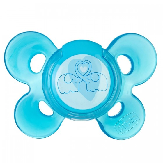 Chicco Physio Comfort Chupeta Látex Azul 6-12M X1