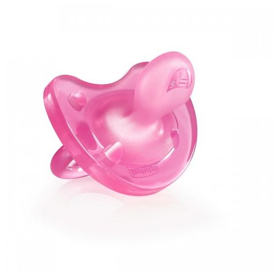 Chicco Physio Soft Chupeta Silicone Rosa 6-12M X1