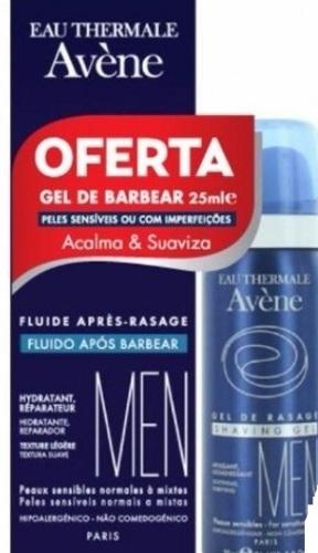 Avene Homem Fluído Após Barbear 75ml+ OFERTA Gel de Barbear 25ml