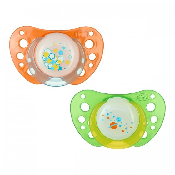 Chicco Physio Air Chupeta Latéx Luminosa 6-12M X2