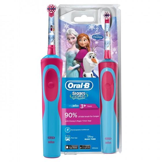 Oral B Escova de Dentes Elétrica Infantil Stages Power Frozen PROMOÇÃO