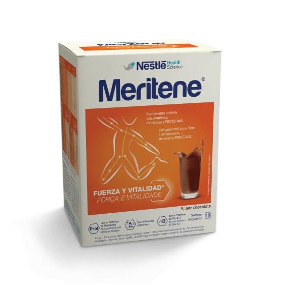 Meritene Saquetas Sabor Chocolate X 15