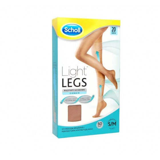 Scholl Light Legs Collant Compressão 20 den Cor da Pele XL