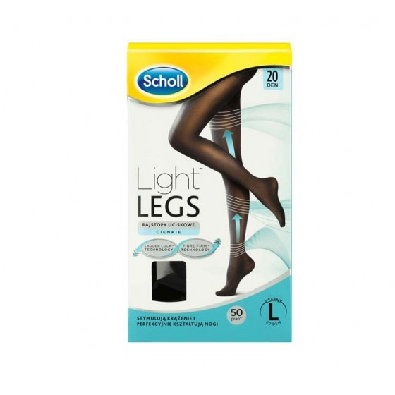 Scholl Light Legs Collant Compressão 20 den Preto L