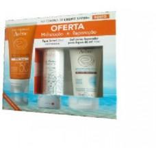Avene Creme Rosto Solar SPF 50+ OFERTA Gel Lácteo Reparador Pós Solar +Agua termal 50 ml