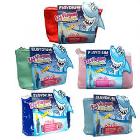 Elgydium Infantil Kit Viagem Kids+Escova de dentes Shark