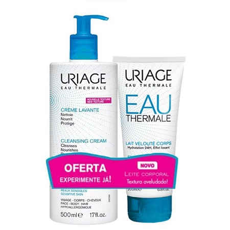 Uriage Creme Lavante 500 ml + OFERTA de Leite Corpo Hidratante 200 ml